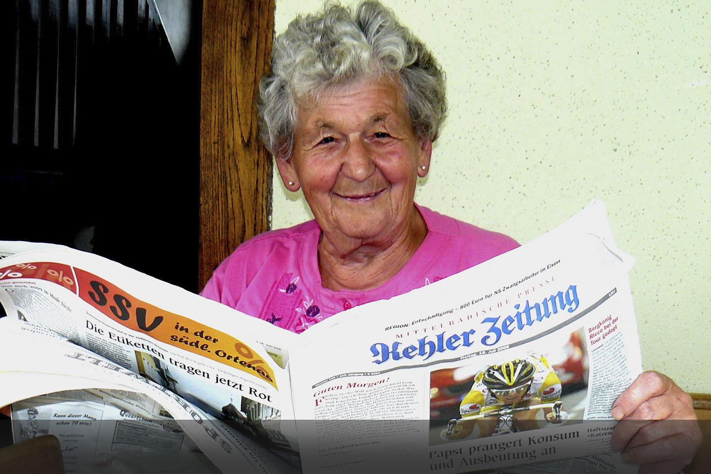 Zeitungsausträgerin Erna Ulrich hört nach 43 Jahren auf