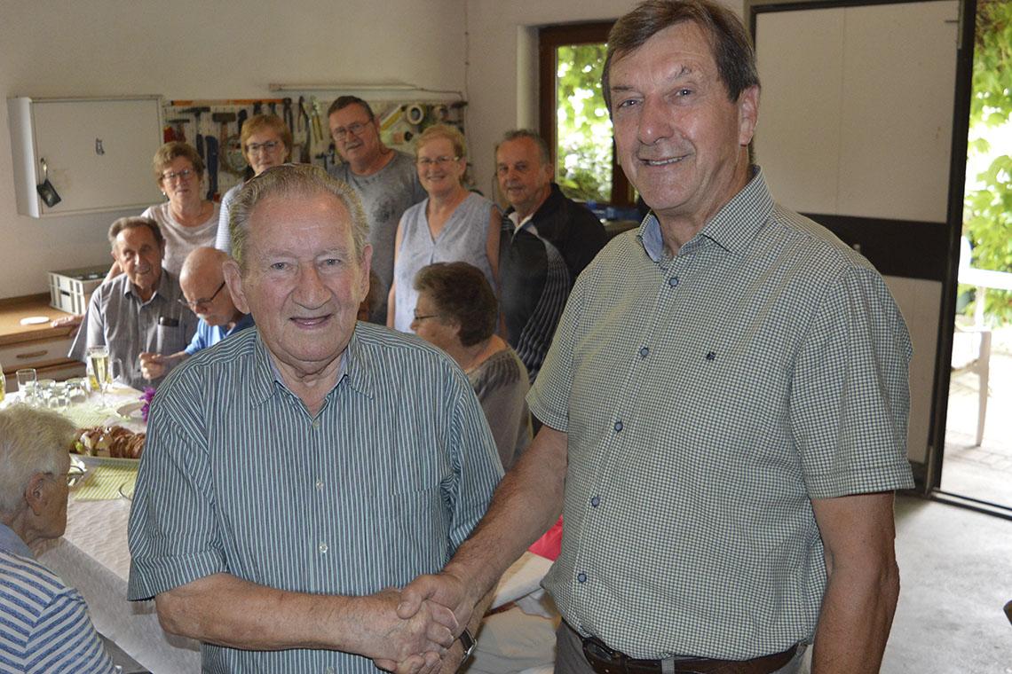 Leutesheimer Robert Zimmer feierte 90. Geburtstag