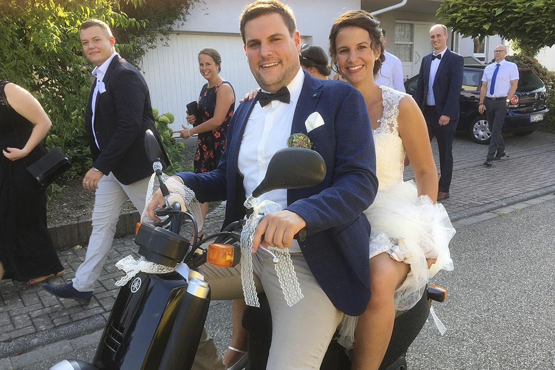 Nico Riebel und Anja Waffenschmidt haben sich getraut