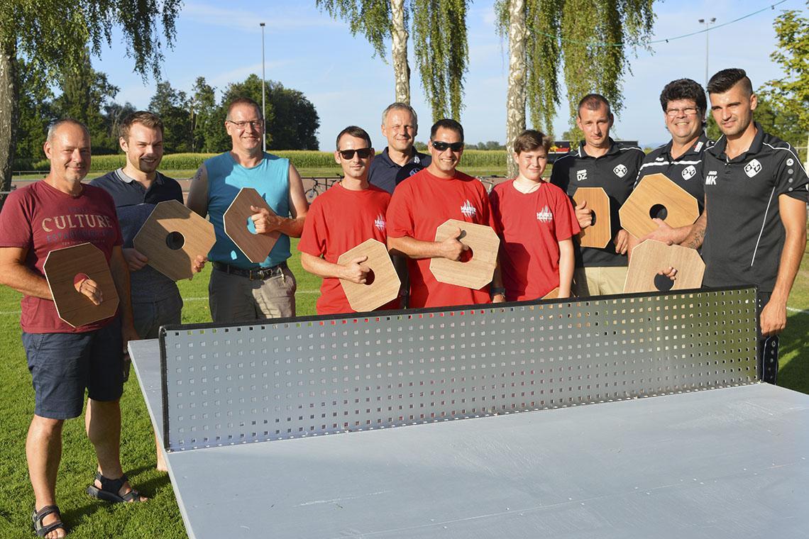 Sportfest-Ausklang: Angler sind auch beim Tischtennis zielsicher