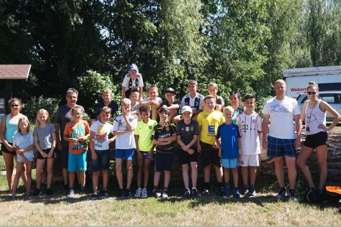 Sportabzeichen der E-Jugend des SV Leutesheim