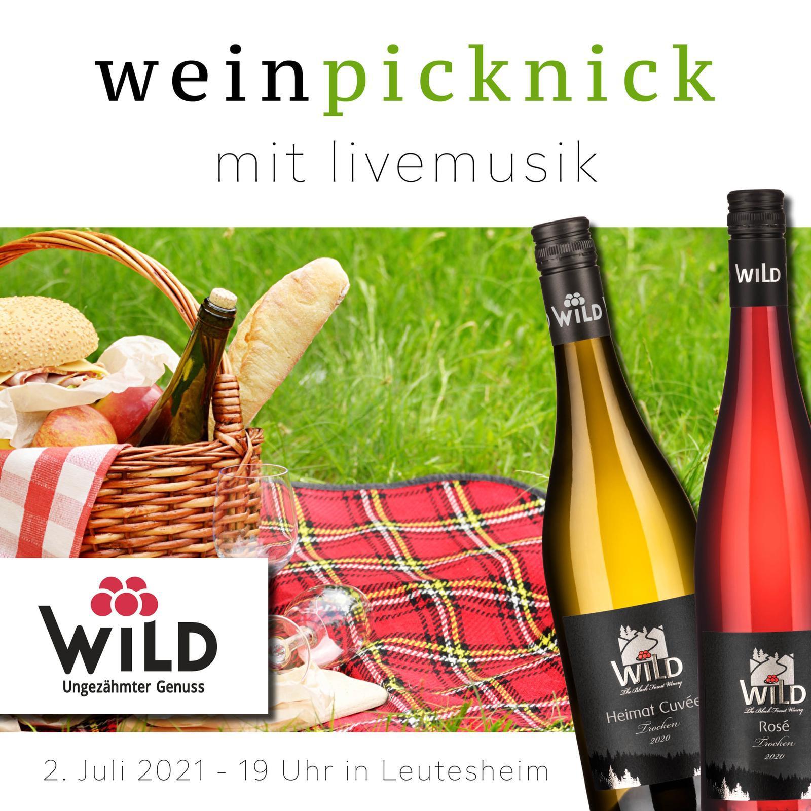 Weinpicknick mit Livemusik am 2. Juli-19 Uhr am Festplatz Leutesheim